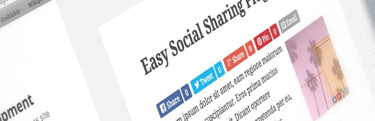 Share content easily with Easy Social Share Buttons